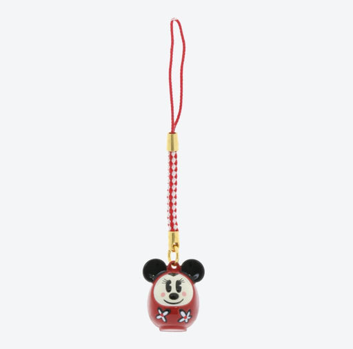 TDR - Bell with Strap/Keychain - Minnie Mouse Daruma