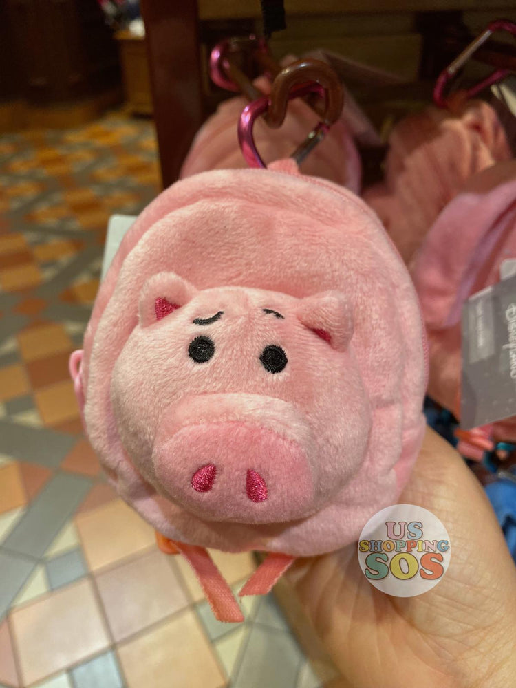 HKDL - Backpack Shaped Plush Keychain & Pouch - Hamm