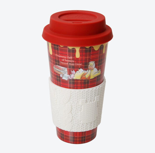 TDR - Pooh & Piglet Honey Plaid - Tumbler with Cup Sleeve