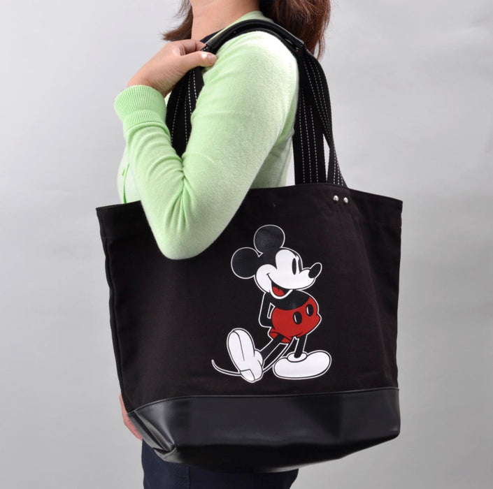 TDR - Black Color Tote Bag x Mickey Mouse (Size L)