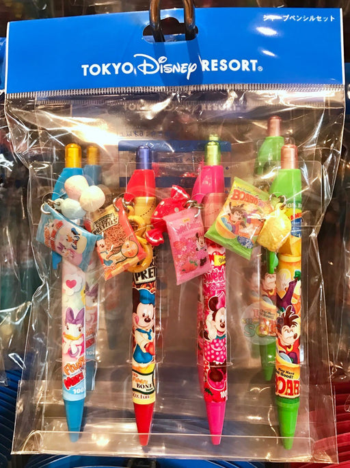 TDR - Mickey & Friends Snack Mechanical Pencil Set (of 4)