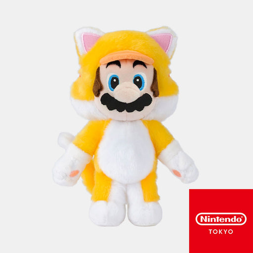 Japan Nintendo - Super Mario Cat Mario Plush Keychain