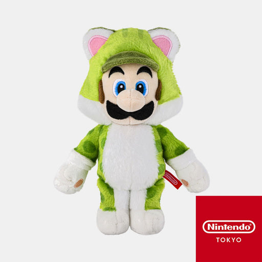 Japan Nintendo - Super Mario Cat Luigi Plush Keychain