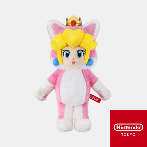 Japan Nintendo - Super Mario Cat Princess Peach Plush Keychain