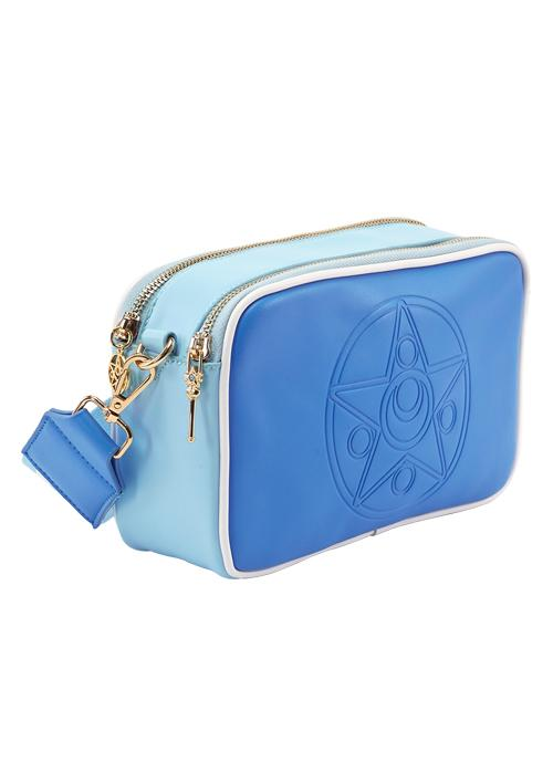 Taiwan Exclusive - Sailor Moon Crystal Star Brooch Embossing Colorful Shoulder Bag (Sailor Mercury/Light Blue)