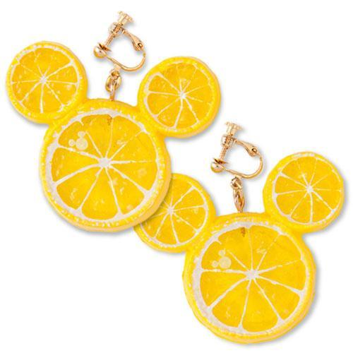 TDR - Mickey Fruit & Candy Clip On Earrings - Lemon
