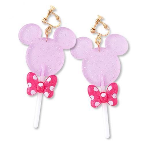 TDR - Mickey Fruit & Candy Clip On Earrings - Lollipop