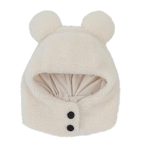 TDR - Fluffy Snow White - Mickey Ear Hooded Scarf