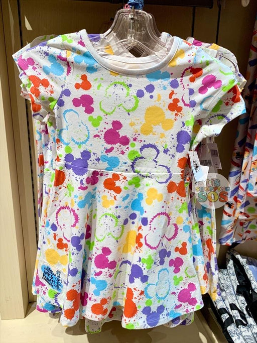 DLR - Ink & Paint - All-Over-Print Mickey Icon Color Splash Dress (Youth)