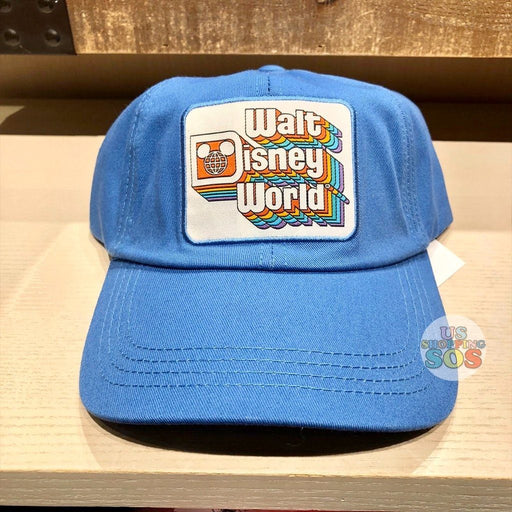 "WDW - ""Walt Disney World"" Retro Stack Logo Blue Baseball Cap (Adult)"