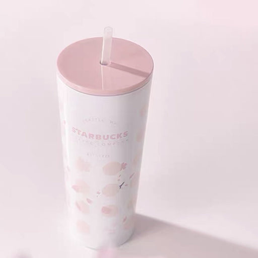 Starbucks China - Sakura 2021 - Cherry Blossom Polka Dot Stainless Steel Cold Cup 473ml