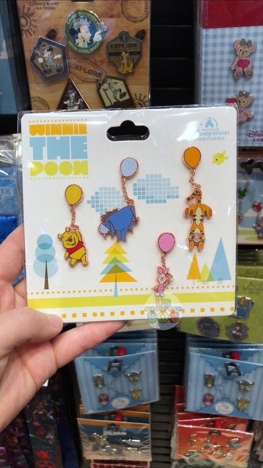 SHDL - Winnie the Pooh & Friends with Balloon x Pins Set