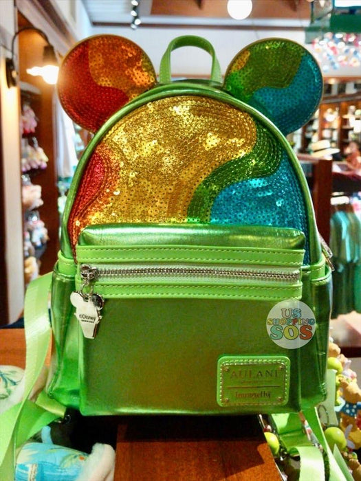 Aulani - Loungefly Minnie Sequin Backpack (Rainbow Shaved Ice)