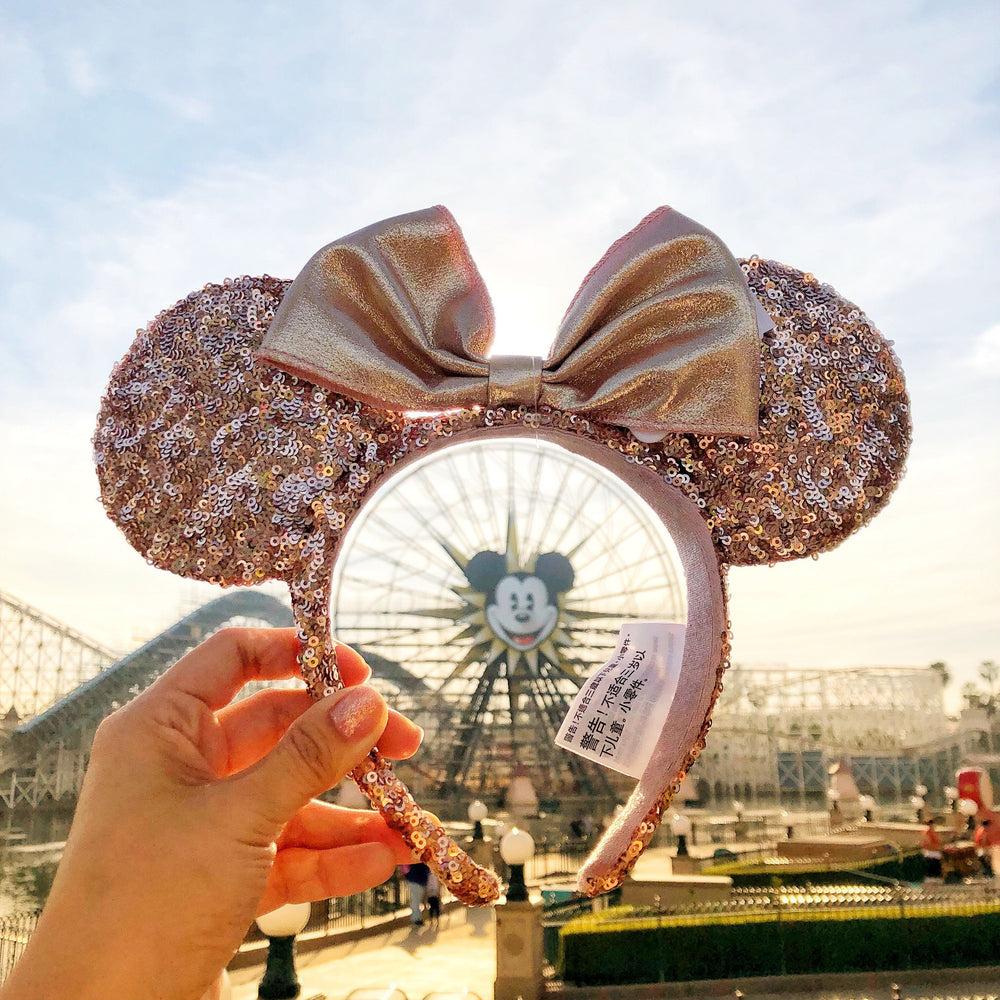 DLR - Minnie Rose Gold Sequin Headband