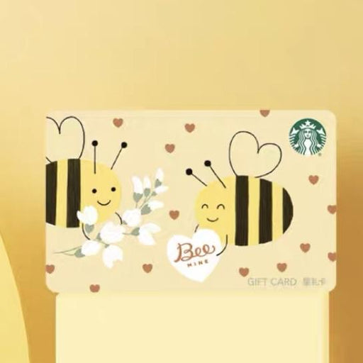 Starbucks China - Valentines Bee Mine - Gift Card (No Cash Value) - Honey Bees