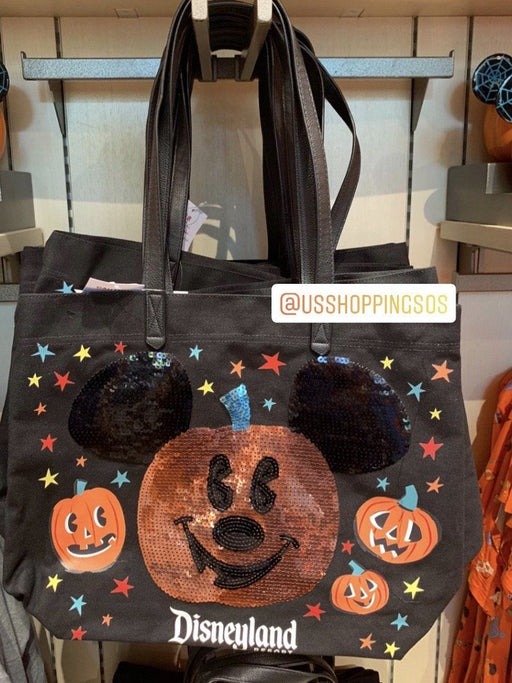 DLR - 🎃 Halloween Time 2020 - Mickey Pumpkin Sequin Tote Bag