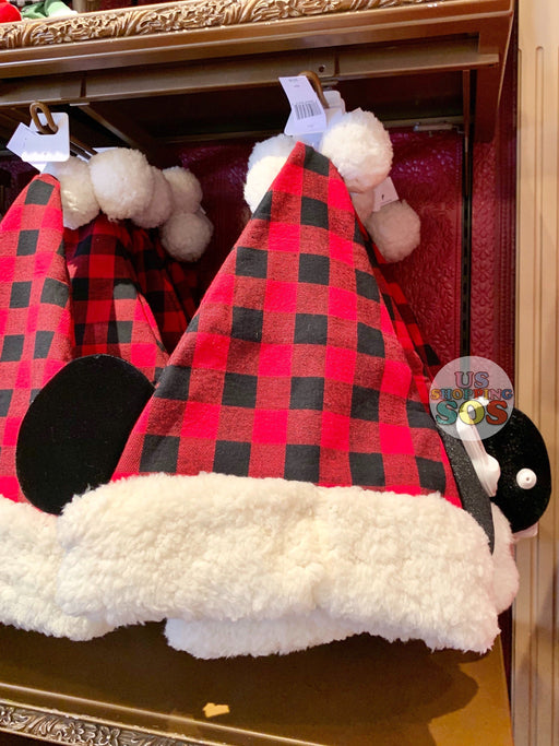 DLR - Christmas 2019 - Mickey Plaid Santa Hat