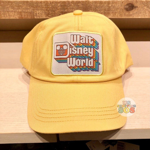 "WDW - ""Walt Disney World"" Retro Stack Logo Yellow Baseball Cap (Adult)"