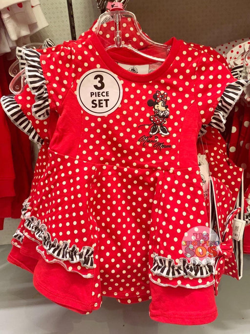 DLR - Minnie Baby Dress 3-Piece Set (Red Polka Dot)