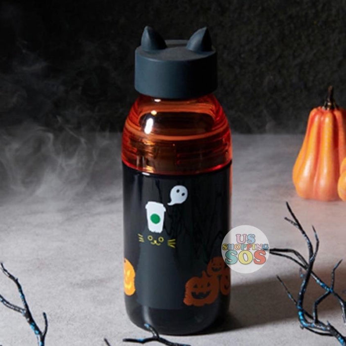 Starbucks China - Halloween 2020 - Black Cat Pumpkins Water Bottle 443ml