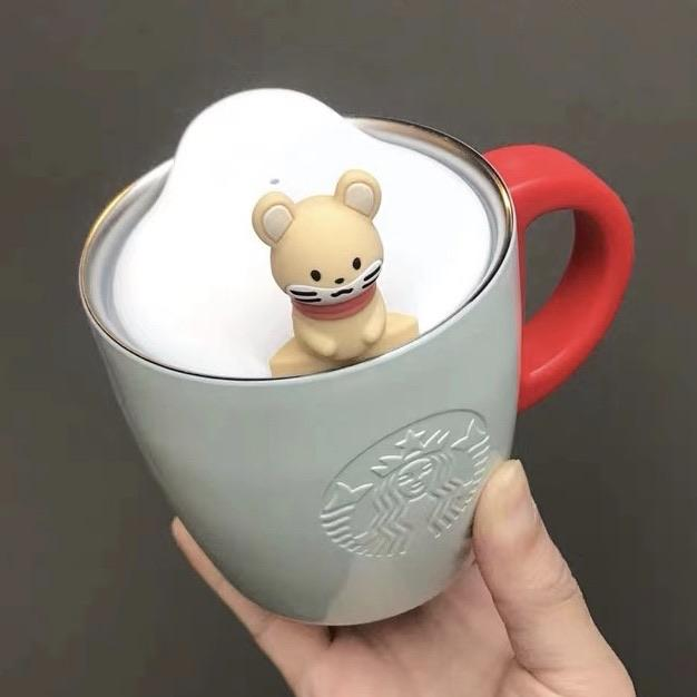 Starbucks China - New Year 2020 Mouse Vacation - 12oz Snow Mouse Stainless Steel Mug with Lid
