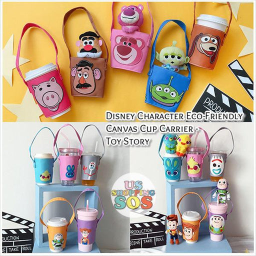 Taiwan Exclusive - Disney Character Eco-Friendly Canvas Cup Carrier - Toy Story