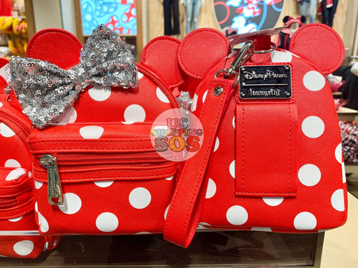 DLR - Loungefly Minnie Backpack Wristlet