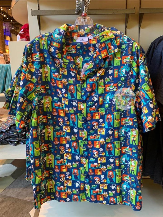 DLR - Pixar 2020 - All-Over-Print Button-Up Shirt (Adult)