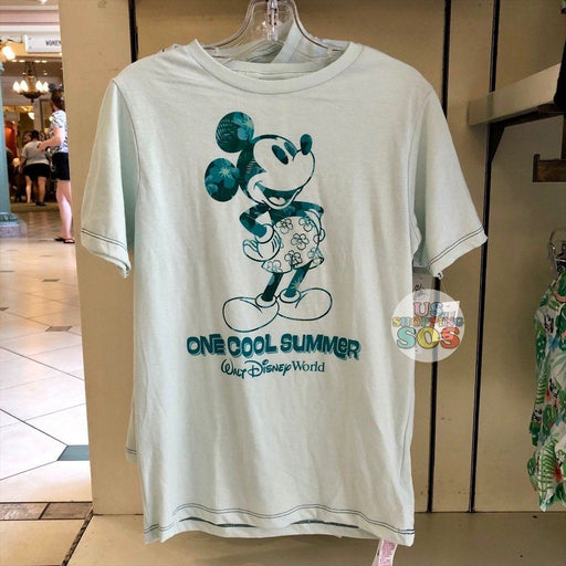 "WDW - Tropical Hello Summer - Mickey ""Walt Disney World"" One Cool Summer T-shirt  (Youth)"