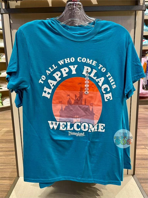 DLR - Graphic Tee - Castle Happy Place Welcome Disneyland Resort (Adult)