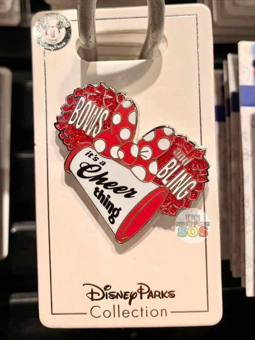"DLR - Minnie ""Bow and Blings It's a Cheer Thing"" Pin"