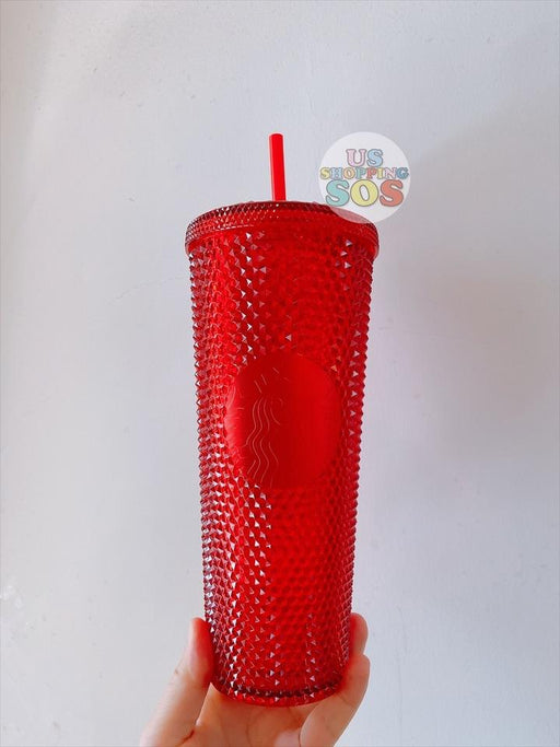 Starbucks China - Christmas Time 2020 - Bright Red Studded Cold Cup 710ml