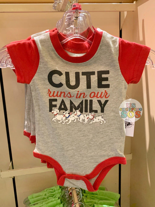 "DLR - Baby Onesie (Infant & Toddler) - Dalmatians ""Cute Runs in Family"""