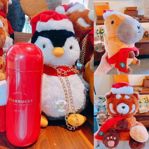 Starbucks China - Christmas Time 2020 (Store 1st Series) - Animal Plush Bag & Capsule-Shape Stainless Steel Bottle 360ml