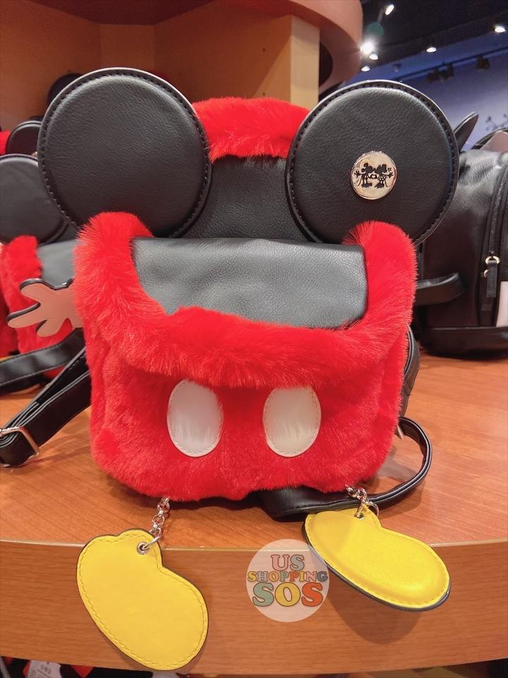 SHDS - Fluffy Mickey Mouse Hands & Foot Backpack (Color: Red)