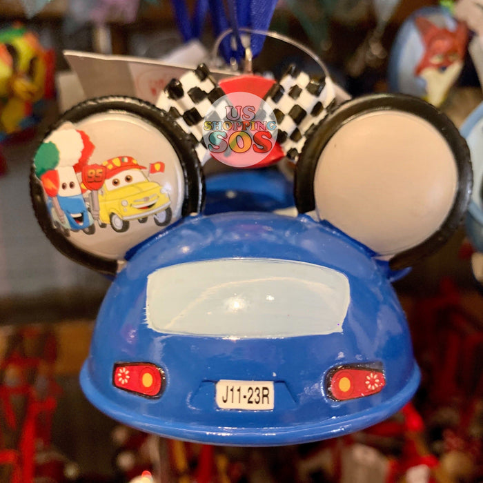 DLR - Ear Hat Hand Printed Ornament - Attraction Radiator Springs Racers