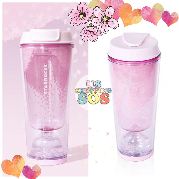 Starbucks China - Purple Sakura - 355ml Sakura Fun Snow Globe Tumbler