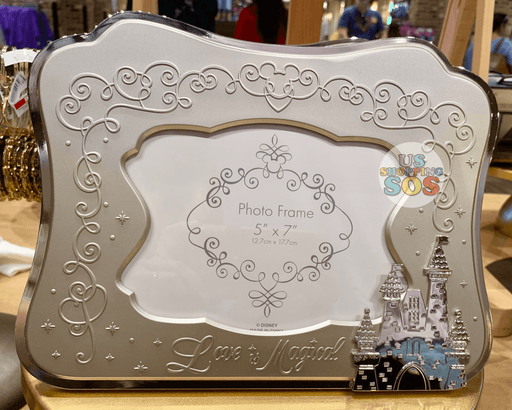 "DLR - The Happiest Place on Earth - Photo Frame 5"" x 7"" (Silver)"