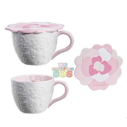 Starbucks China - Valentine 2020 - Love & Peace 3-D Flowers Mug & Lid (355ml)