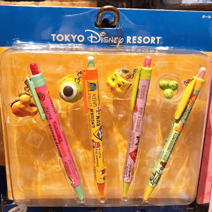 TDR - Food Theme- Disney Fun Food Pen Set (of 4)