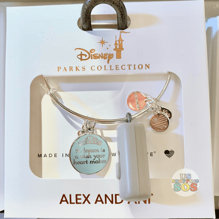 "DLR - Alex & Ani Bangle - Tiara ""A dream is a wish your heart makes"""