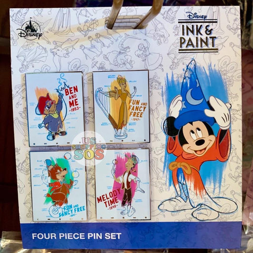 DLR - Ink & Paint - Character Pin Set of 4