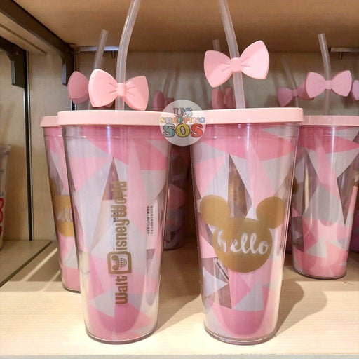 WDW - Plastic Cold Cup with Topper - Hello Walt Disney World