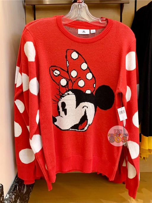 DLR - Face Icon Sweater (Adult) - Minnie Mouse (Red)