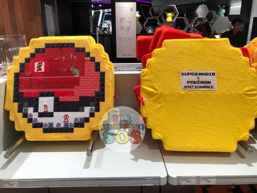 Japan Nintendo - Super Mario x Pokémon 8 Bit Scramble Cushion x Pokémon Ball