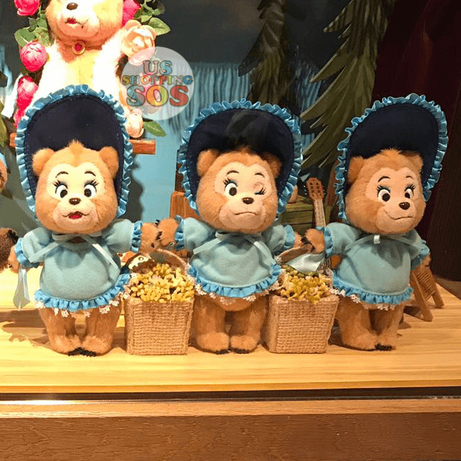 TDR - Country Bear Jamboree Plush Keychain - The Sun Bonnet Trio