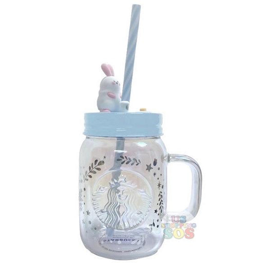 Starbucks China - Moon Rabbit Coffee Time - Glass Mason Jar Sipper 473ml