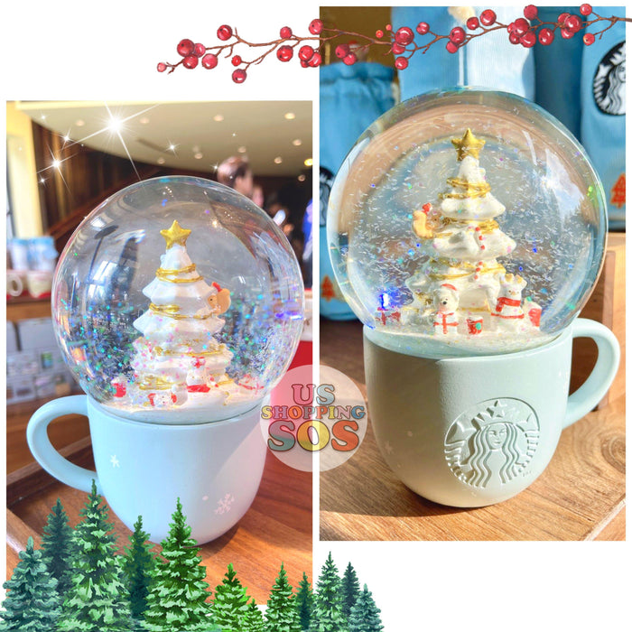 Starbucks China - Christmas Wave - Christmas Tree Party Snow Globe Cup