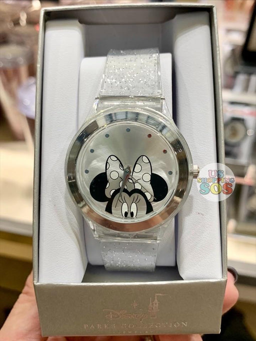 DLR - Disney Parks Jewelry - Hide & Seek Minnie Watch Glitter Transparent Band