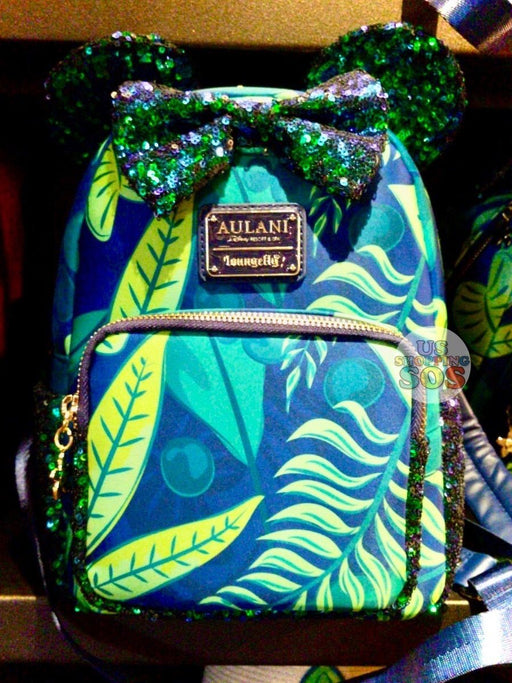 Aulani - Paradise Vibes - Loungefly Minnie All-Over-Print Sequin Contrast Backpack